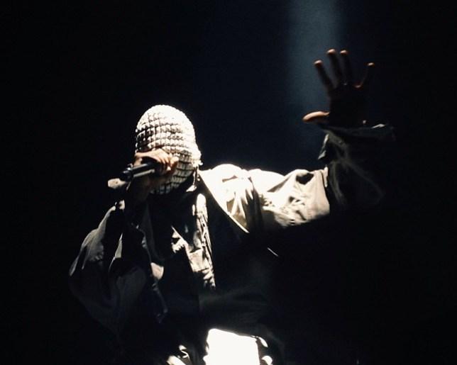 Kanye West during Yeezus tour