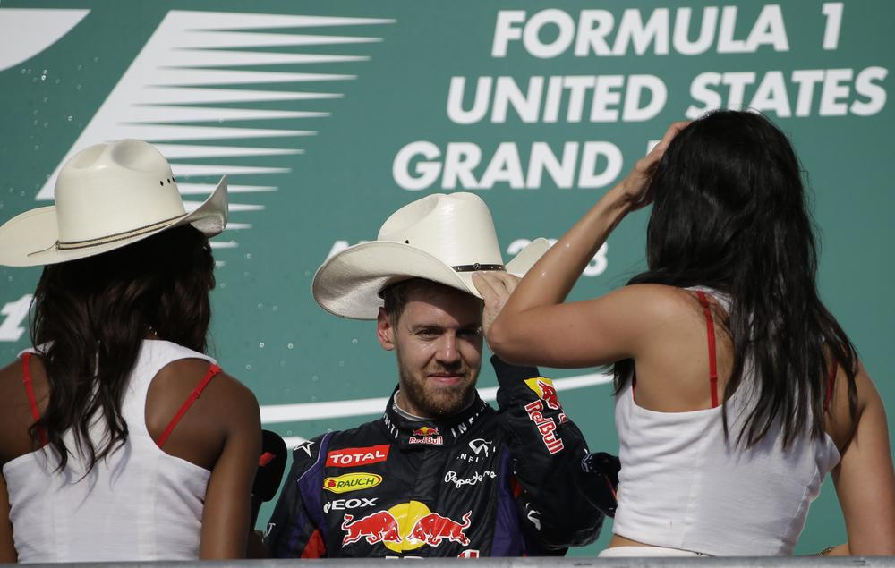 Record-breaker Sebastian Vettel lives American dream with eighth consecutive win
