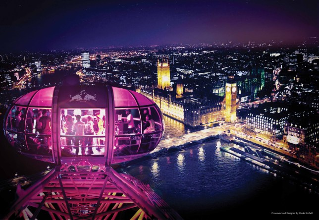 Red Bull Revolutions In Sound takes to the skies at the London Eye tonight