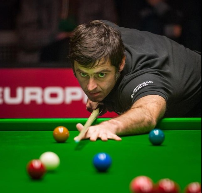 English Ronnie O'Sullivan plays during the semi-final at the Belgium Open PTC European Tour Snooker tournament in Antwerp, on November 17, 2013. AFP PHOTO /JONAS ROOSENS AFP/AFP/Getty Images