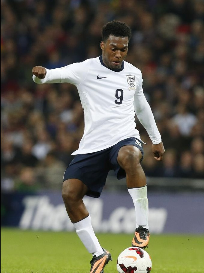 England's Daniel Sturridge plays against Montenegro during their World Cup Group H qualification soccer match at Wembley stadium in London, Friday, Oct. 11, 2013. AP