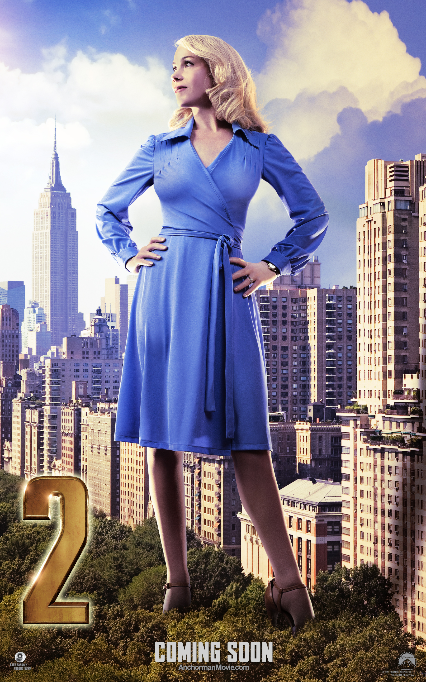 Exclusive: Veronica Corningstone gets her own statuesque Anchorman 2 poster