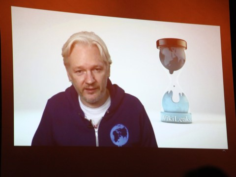 Julian Assange opens M.I.A.'s New York show with Skype chat