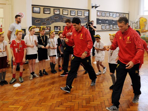 Liverpool stars turn in egg-cellent performance in egg and spoon race