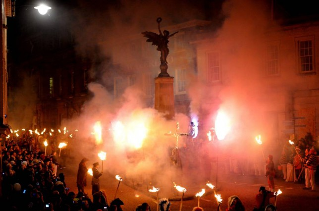 Lewes on Bonfire Nights - they really go for it (Picture: Getty Images)