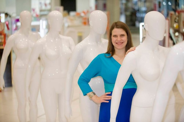 MP Jo Swinson at the launch of Debenhams size 16 mannequin range (Picture: PR/PA Wire)