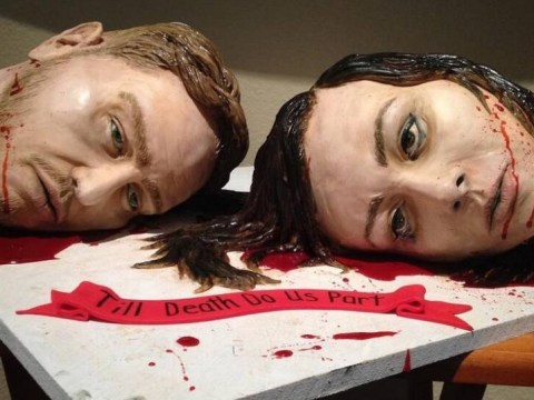 Warning: This severed head cake a bride made for her own wedding may put you off ever getting married