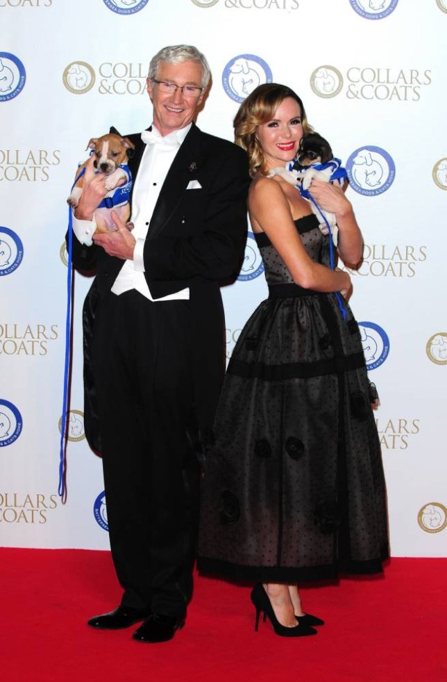 Paul O'Grady (left) and Amanda Holden attending Battersea Dogs and Cats Home's Collars and Coats Gala Ball at Battersea Evolution, London. PRESS ASSOCIATION Photo. Picture date: Thursday November 7, 2013. Photo credit should read: Ian West/PA Wire