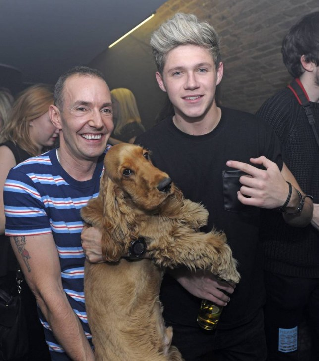 Niall Horan of One Direction poses for a picture with G-A-Y owner Jeremy Joseph whilst waiting to watch Ellie Goulding perform at the club Featuring: Niall Horan,Jeremy Joseph Where: London, United Kingdom When: 16 Nov 2013 Credit: Chris Jepson/WENN.com