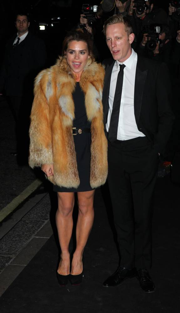 Billie Piper and Laurence Fox arrive at the 59th London Evening Standard Theatre Awards at the Savoy Hotel in central London. PRESS ASSOCIATION Photo. Picture date: Sunday November 17, 2013. See PA story SHOWBIZ Theatre. Photo credit should read: Sean Dempsey/PA Wire