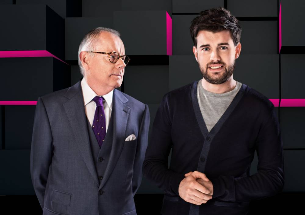 Michael Whitehall and son Jack will play host to inquisitor-in-chief Jeremy Paxman and new-boy EastEnder Danny Dyer (Picture: BBC/Pete Dadds)