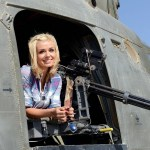 Undated handout photo issued by the Ministry of Defence of singer Katherine Jenkins as she sits in a Lynx helicopter during a three day visit to Camp Bastion with the British Forces Foundation charity. PRESS ASSOCIATION Photo. Issue date: Tuesday November 19, 2013. See PA story DEFENCE Jenkins. Photo credit should read: Sergeant Dan Bardsley (Phot)/MoD/ Crown Copyright/PA Wire NOTE TO EDITORS: This handout photo may only be used in for editorial reporting purposes for the contemporaneous illustration of events, things or the people in the image or facts mentioned in the caption. Reuse of the picture may require further permission from the copyright holder.