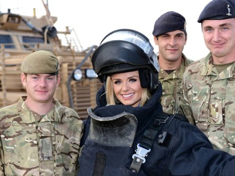 Gallery: Katherine Jenkins vists and performs for troops in Afghanistan
