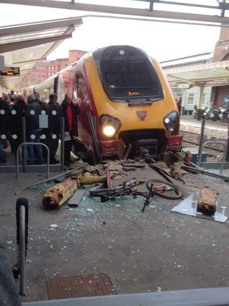 Virgin train derails and crashes into buffers at Chester station