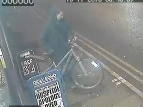 CCTV released of 'opportunistic' man stealing teenage papergirl's bike