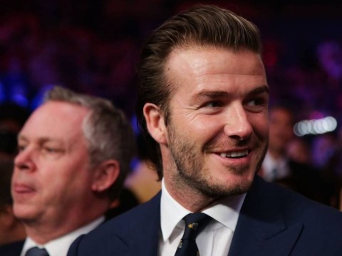 David Beckham and Paris Hilton watch as Manny Pacquiao wins for the Philippines in Macau