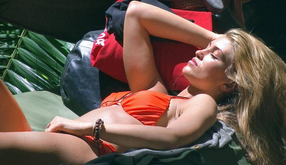 **EMBARGO NOT TO BE USED BEFORE 21:00 25th NOV 2013** EDITORIAL USE ONLY - NO MERCHANDISING  Mandatory Credit: Photo by ITV/REX (3386364al)  Amy Willerton sunbathing in camp  'I'm A Celebrity Get Me Out Of Here' TV Programme, Australia - 25 Nov 2013