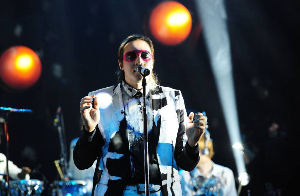 Arcade Fire during the filming of the Graham Norton Show at The London Studios, south London, to be aired on BBC One on Friday evening. PRESS ASSOCIATION Photo. Picture date: Thursday November 28, 2013. Photo credit should read: Ian West/PA Wire