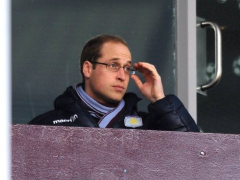 Aston Villa fail to put in a royal command performance in front of future King