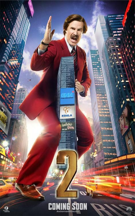 4 new Anchorman 2 posters depict Channel 4 News team as well-dressed kaiju