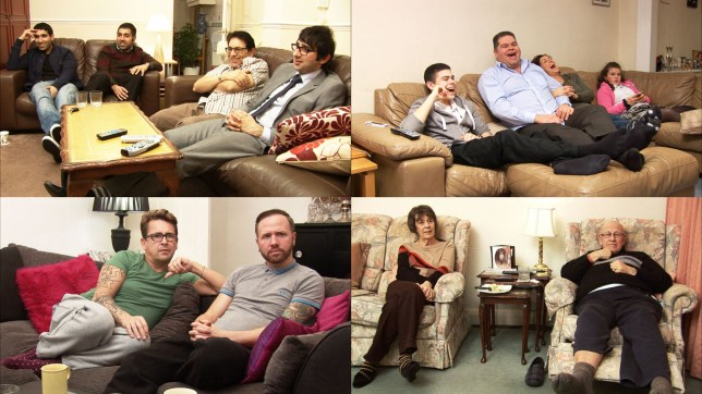 The Gogglebox production company has small crews out each night filming the contributors watching a list of selected shows (Picture: Channel 4)