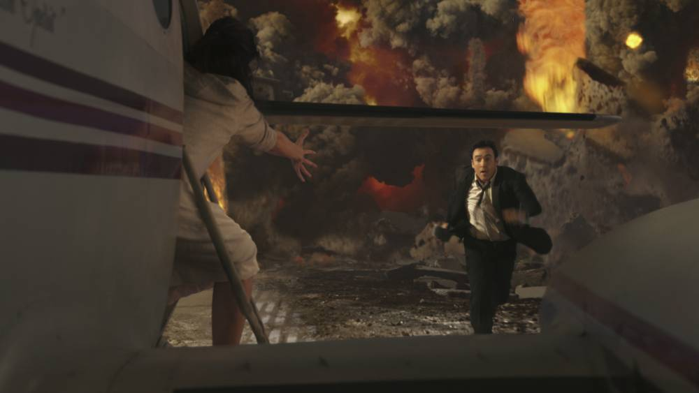 "FILM: 2012 (2009) starring John Cusack.  John Cusack in Columbia Pictures'  ""2012."" The action film will be released November 13, 2009."