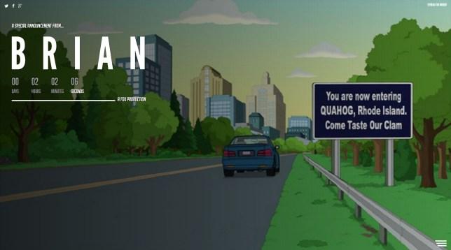 Family Guy Brian website