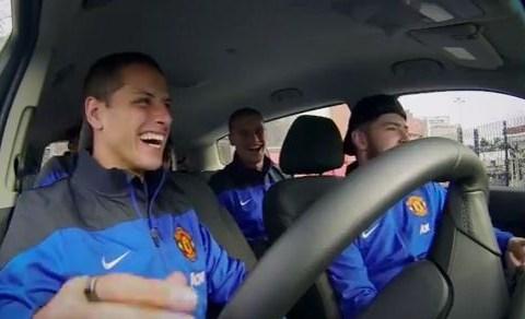 Javier Hernandez and Anders Lindegaard turn human beatbox for Manchester United advert – video