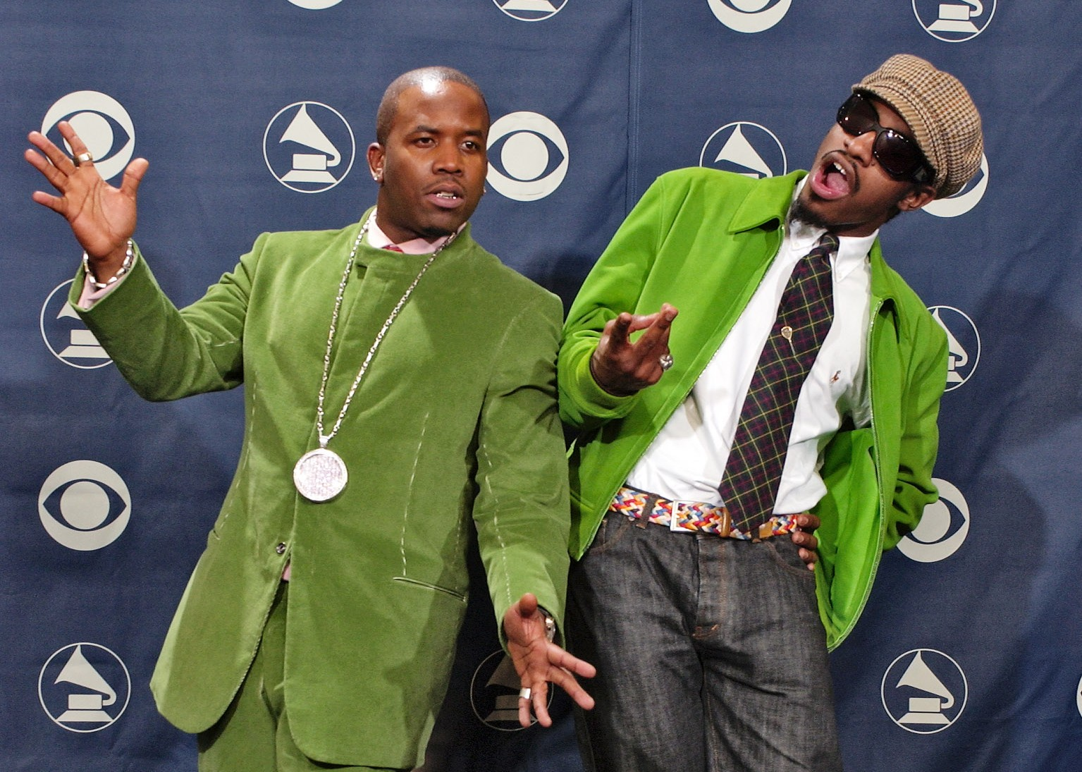 OutKast members Big Boi and Andre 3000 at the 2004 Grammy's (Picture: AP)