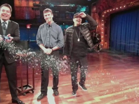 PS4 demo: Ice-T and Jimmy Fallon kick virtual robots around Sony's Playroom
