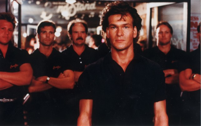 Patrick Swayze was the star of 1989's Road House (Picture: Channel Five)