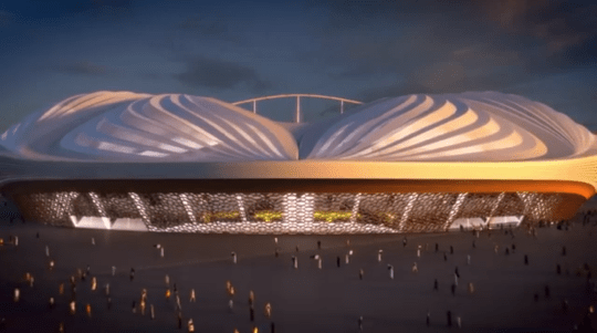 That awkward moment when a new stadium for the Qatar World Cup looks like a vagina