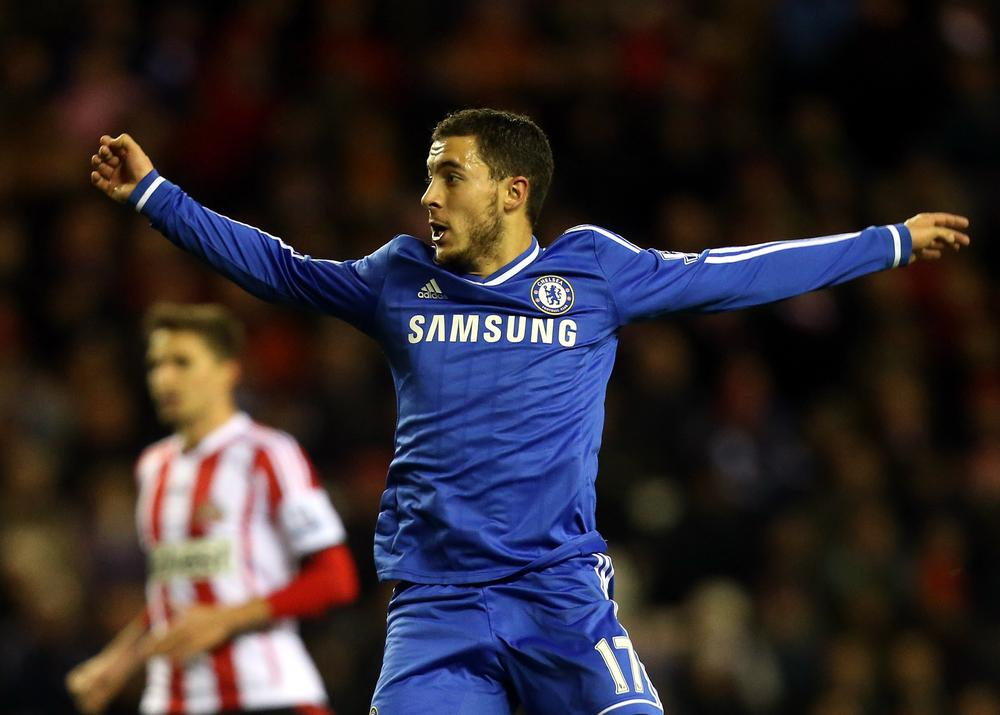 Frank Lampard hails 'top drawer' Eden Hazard after Sunderland win