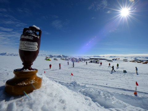 Gallery: Antarctic ice cap Ashes cricket match