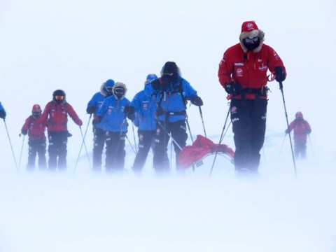 And they're toff: Prince Harry starts 170-mile polar trek