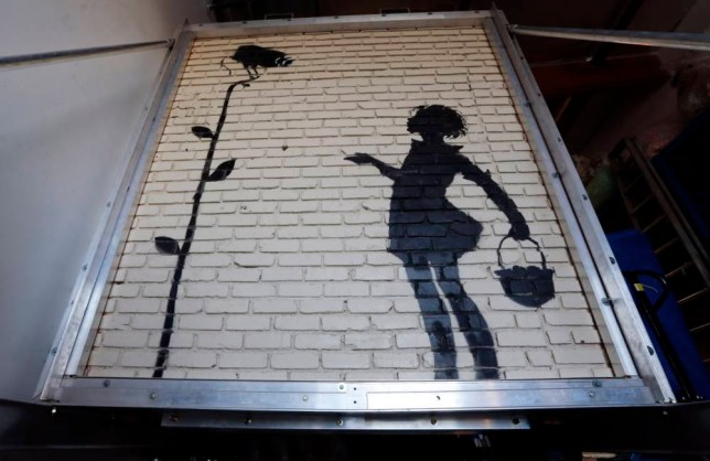 Banksy Flower Girl artwork up for auction in Beverly Hills