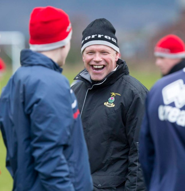 Picture- Ken Macpherson, Inverness.nSee story.nNew Inverness CT manager John Hughes takes training for the first time yesterday (Thurs).