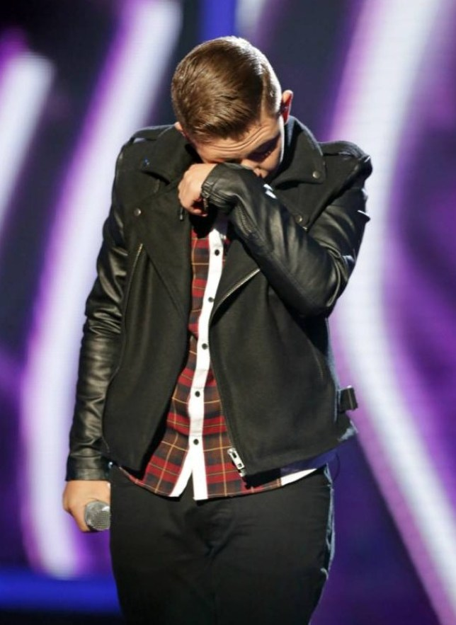 The X Factor 2013: Nicholas McDonald has a bit of a cry