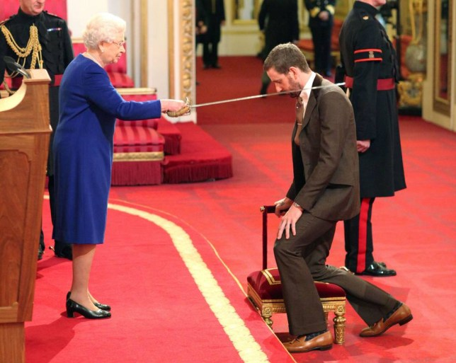 Sir Bradley Wiggins is knighted by Queen Elizabeth II at Buckingham Palace, central London. PRESS ASSOCIATION Photo. Picture date: Tuesday December 10, 2013. See PA story ROYAL Investitures. Photo credit should read: Dominic Lipinski/PA Wire