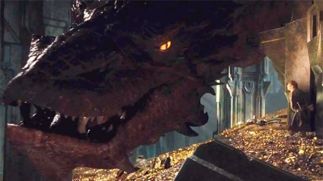 At last, we get to see Smaug versus Bilbo in the second installment of the Hobbit