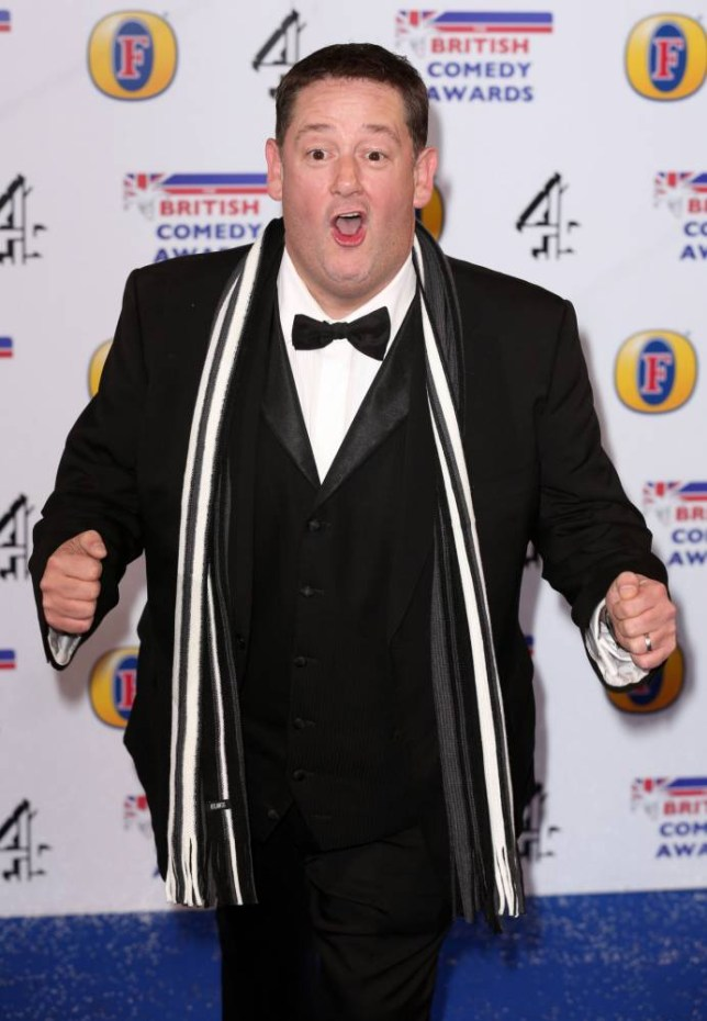 Johnny Vegas at the British Comedy Awards