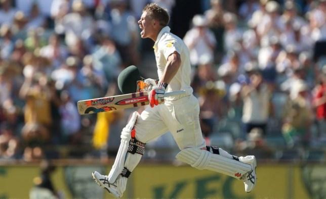 Cricket - Australia v England - 2013/14 Commonwealth Bank Ashes Test Series Third Test - The WACA, Perth, Australia - 15/12/13  Australia's David Warner celebrates his century  Mandatory Credit: Action Images / Jason O'Brien  Livepic  EDITORIAL USE ONLY.