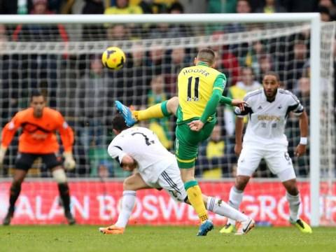 Back of the net! Watch Gary Hooper's screamer for Norwich against Swansea