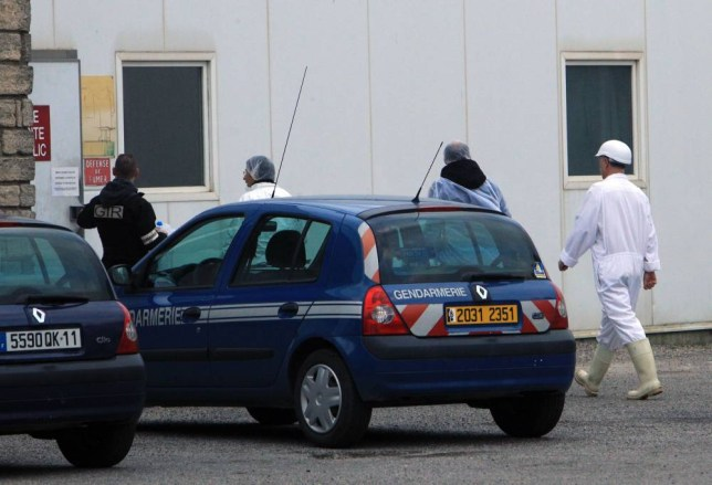 Policemen investigate at the Societe d'Exploitation des Abattoirs de Narbonne (SEAN, Narbonne's slaughterhouse) on December 16, 2013, in Narbonne, southern France. Twenty-one individuals were arrested on December 16 in southern France as part of an operation against an alleged horse meat traffic. Horses that had been used by pharmaceutical firms could have ended in the food-processing industry.  AFP PHOTO / RAYMOND ROIGRAYMOND ROIG/AFP/Getty Images