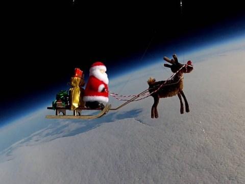 Santa boldly go-ho-hos: Christmas spirit never been higher