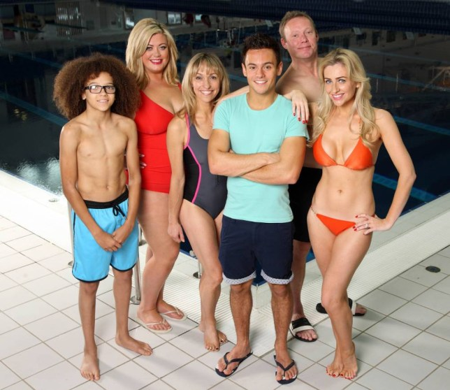 STRICTLY EMBARGOED:  FOR PUBLICATION FROM 23rd DECEMBER 2013nFrom Twofour ProductionnnSPLASH 2014 nSaturday 4th January 2014 on ITV nnPictured: (l-r) Perri  Kiely, Gemma Collins, Michaela Strachan, Tom Daly, Ricky Groves and Gemma MernannThe highest rating new entertainment series on ITV for five years ¿ Splash! returns to ITV for a second series.n  nOlympic Bronze medal and British and European Championship winner Tom Daley will return and once again challenge some of the nation¿s favourite faces to learn one of sport¿s most difficult disciplines on primetime ITV.nn© ITV/TwofournnPhotographer: Tony Ward nnFor further information please contact Peter Gray n0207 157 3046 peter.gray@itv.com nnThis photograph is © ITV/Twofour and can only be reproduced for editorial purposes directly in connection with the  programme SPLASH 2014  or ITV. Once made available by the ITV Picture Desk, this photograph can be reproduced once only up until the Transmission date and no reproduction fee will be charged. Any subsequent usage may incur a fee. This photograph must not be syndicated to any other publication or website, or permanently archived, without the express written permission of ITV Picture Desk. Full Terms and conditions are available on the website www.itvpictures.comn