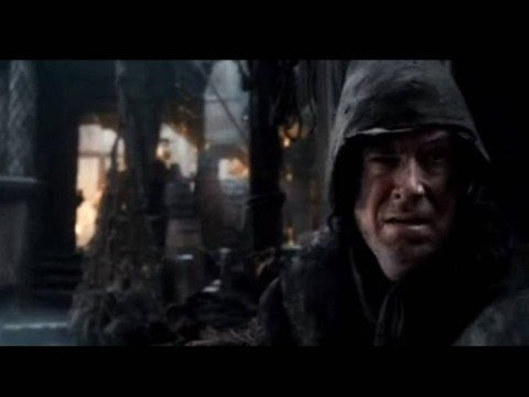 Here's a picture of Stephen Colbert's cameo in The Hobbit: The Desolation of Smaug