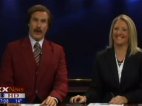Will Ferrell anchors real-life news broadcast as Ron Burgundy