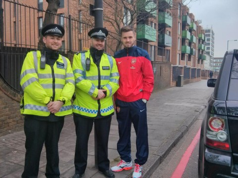Police pull over Arsenal defender Carl Jenkinson, promptly ask for a picture