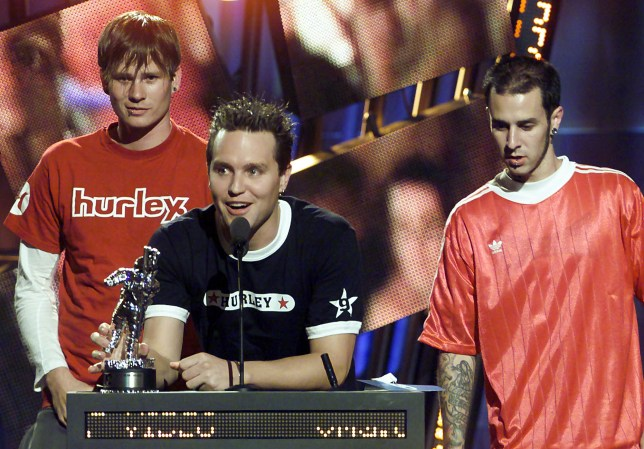 Really, really, really old picture of Blink 182 (Picture: AP)